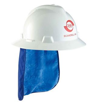 Ergodyne Chill-Its 6717CT  Blue Evap. Hard Hat Neck Shade w/ Cooling Towel
