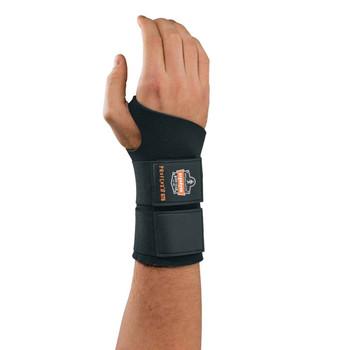 Ergodyne ProFlex 675 L Black Ambidextrous Double Strap Wrist Support