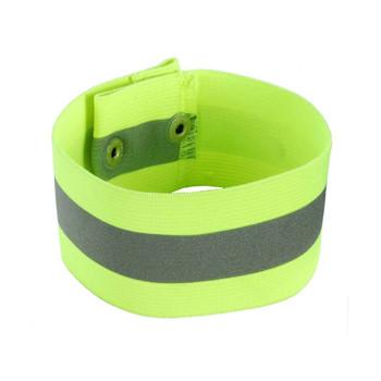 Ergodyne GloWear 8001 L/XL Lime Arm/Leg Band - Button Snap Closure