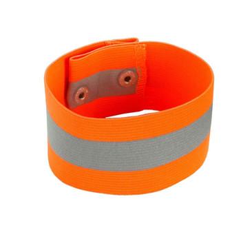 Ergodyne GloWear 8001 L/XL Orange Arm/Leg Band - Button Snap Closure