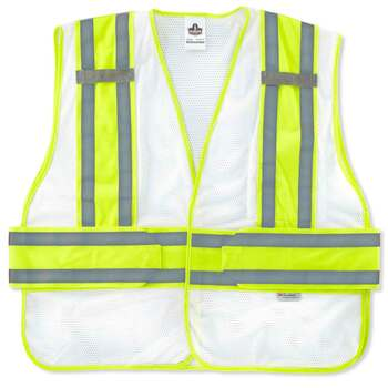 Ergodyne GloWear 8240HL-NC M/L White Non-Certified Two-Tone Expandable Vest
