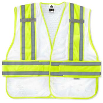 Ergodyne GloWear 8240HL-NC XL/2XL White Non-Certified Two-Tone Expandable Vest