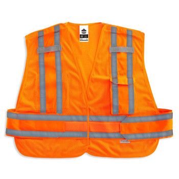 Ergodyne GloWear 8244PSV XL/2XL Orange Type P Class 2 Expandable Public Safety Vest