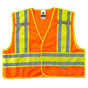 Ergodyne GloWear 8245PSV 2XL/3XL Orange Type P Class 2 Public Safety Vest