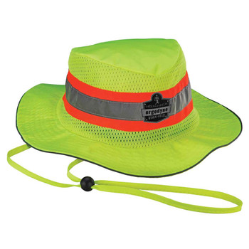 Ergodyne Chill-Its 8935CT S/M Lime Evap. Class Headwear Hi-Vis Ranger Hat w/CT
