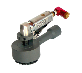 Heavy Duty 3 inch Air Powered Right Angle Sander with Dust Collection Attachment