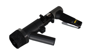Heavy Duty Medium Size 3mm Pistol Grip Air Powered Needle Gun Kit With Dust Collection Shroud