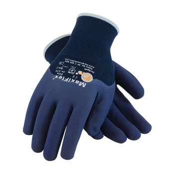 PIP ATG Ultra Light Weight Seamless Knit Nylon Glove with Nitrile Coated MicroFoam Grip on Palm, Fingers & Knuckles - 34-275