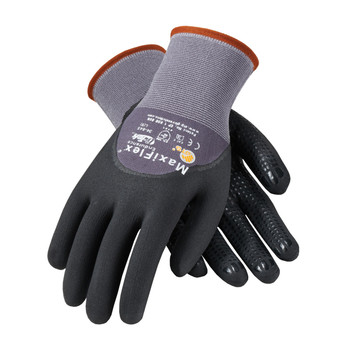 PIP ATG Seamless Knit Nylon Glove with Nitrile Coated MicroFoam Grip on Palm, Fingers & Knuckles - Micro Dot Palm - 34-845
