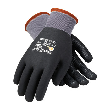 PIP ATG Seamless Knit Nylon Glove with Nitrile Coated MicroFoam Grip on Full Hand - Micro Dot Palm - 34-846