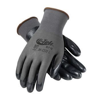 PIP G-Tek Seamless Knit Nylon Glove with Nitrile Coated Foam Grip on Palm & Fingers - Economy Grade - 34-C232