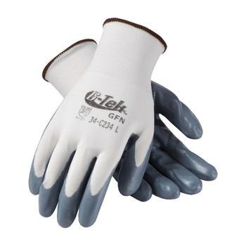 PIP G-Tek Seamless Knit Nylon Glove with Nitrile Coated Foam Grip on Palm & Fingers - Economy Grade - 34-C234