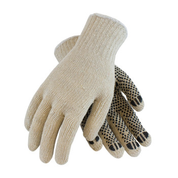 PIP PIP Seamless Knit Cotton / Polyester Glove with PVC Dot Grip - Regular Weight - 36-110PD