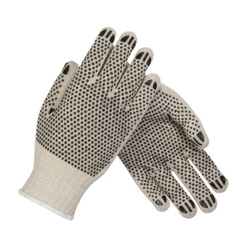 PIP PIP Seamless Knit Cotton / Polyester Glove with Double-Sided PVC Dot Grip - Regular Weight - 36-110PDD