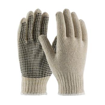 PIP PIP® Seamless Knit Cotton / Polyester Glove with PVC Dot Grip - 7 Gauge - 37-C110PD