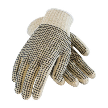 PIP PIP Seamless Knit Cotton / Polyester Glove with Double-Sided PVC Dot Grip - 7 Gauge - 37-C110PDD