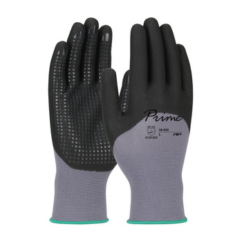 PIP Prime™ Seamless Knit Nylon Glove with Nitrile Coated Foam Grip on Palm, Fingers & Knuckles - Micro Dot Palm - 38-635