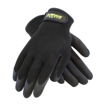PIP Maximum Safety Seamless Knit Cotton / Polyester Glove with Latex Coated Crinkle Grip on Palm & Fingers - Hook & Loop Closure - 39-C1375