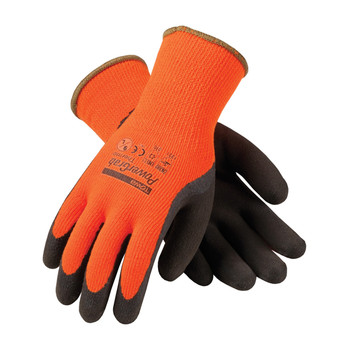 PIP PowerGrab Thermo Hi-Vis Seamless Knit Acrylic Terry Glove with Latex MicroFinish Grip on Palm & Fingers - 41-1400