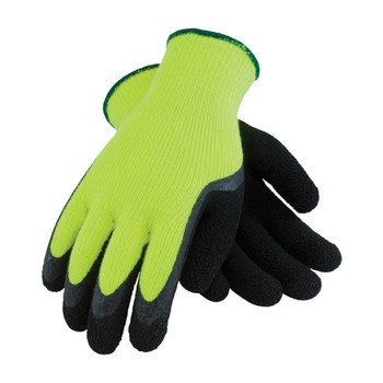 PIP PIP Hi-Vis Seamless Knit Acrylic Terry Glove with Latex MicroFinish Grip on Palm & Fingers - 41-1420
