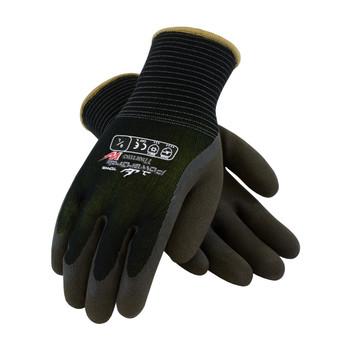 PIP PowerGrab Thermo Seamless Knit Nylon Glove with Hi-Vis Acrylic Liner and Latex MicroFinish Grip on Palm & Fingers - 41-1430