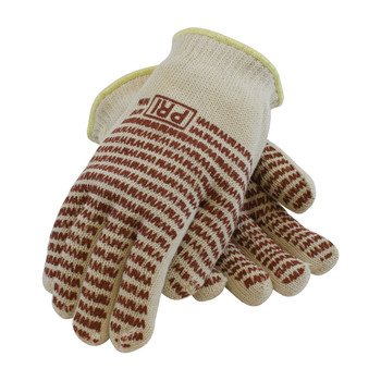 PIP PIP Double-Layered Cotton Seamless Knit Hot Mill Glove with Double-Sided EverGrip Nitrile Coating - 24 oz - 43-502