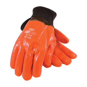 PIP ProCoat Hi-Vis Insulated PVC Dipped Glove with Smooth Finish - Knitwrist - 58-7303