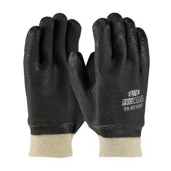 PIP ProCoat® PVC Dipped Glove with Jersey Liner and Rough Acid Finish - Knitwrist - 58-8015DD