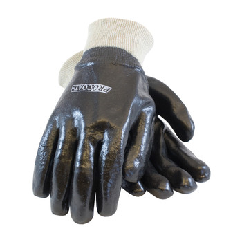 PIP ProCoat PVC Dipped Glove with Interlock Liner and Semi-Rough Finish - Knitwrist - 58-8015R