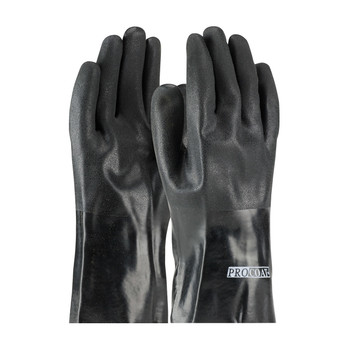 """PIP ProCoat® PVC Dipped Glove with Jersey Liner and Rough Acid Finish - 12"""" - 58-8030DD"""