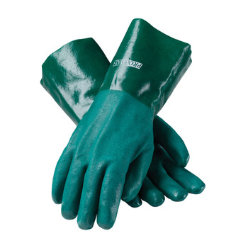 """PIP ProCoat PVC Dipped Glove with Jersey Liner and Rough Acid Finish - 14"""" - 58-8035DD"""