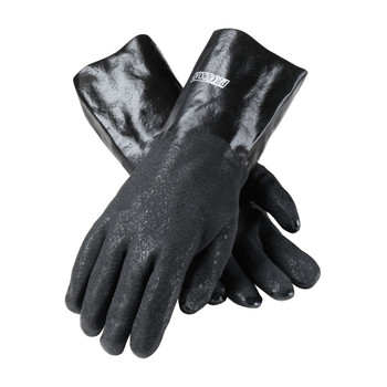 """PIP ProCoat PVC Dipped Glove with Jersey Liner and Rough Acid Finish - 14"""" - 58-8040DD"""