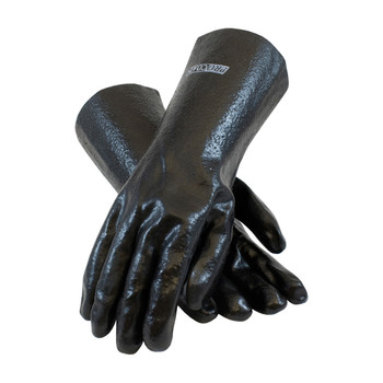 """PIP ProCoat PVC Dipped Glove with Interlock Liner and Semi-Rough Finish - 14"""" - 58-8040R"""