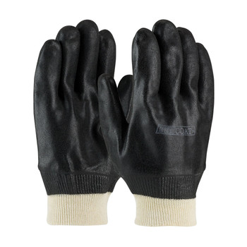 PIP ProCoat® PVC Dipped Glove with Interlock Liner and Sandy Finish - Knitwrist - 58-8115DD