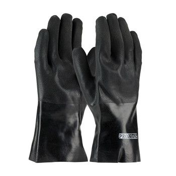 """PIP ProCoat® PVC Dipped Glove with Interlock Liner and Sandy Finish - 12"""" - 58-8130DD"""