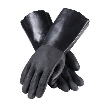 """PIP ProCoat PVC Dipped Glove with Interlock Liner and Sandy Finish - 14"""" - 58-8140DD"""