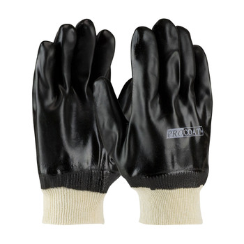 PIP ProCoat® PVC Dipped Glove with Jersey Liner and Sandy Finish - Knitwrist - 58-8215DD