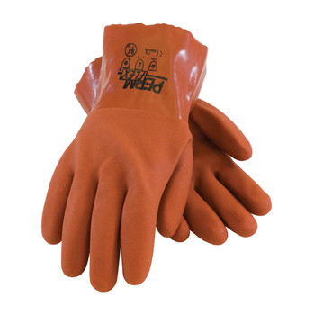 """PIP PermFlex Cold Resistant PVC Glove with Seamless Liner and Rough Coating - 10"""" - 58-8650"""