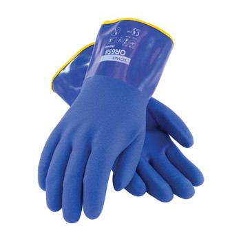"""PIP ProCoat Cold Resistant PVC Glove with Detachable Terry Liner and Sandy Finish - 12"""" - 58-8658DL"""