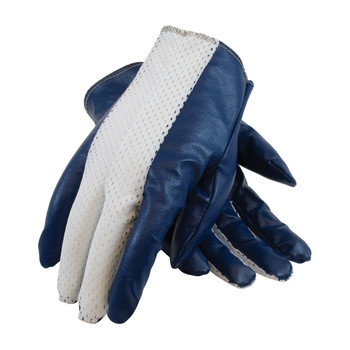 PIP Excalibur Nitrile Coated Cotton Glove with Nylon Mesh Back - Men's - 60-3107