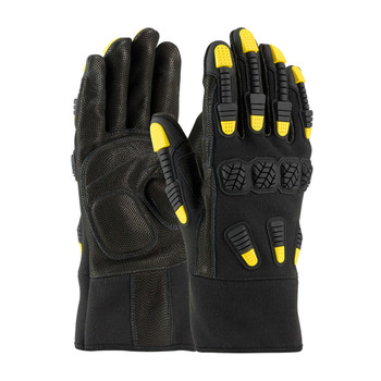 PIP Maximum Safety FR Treated Hi-Performance Goatskin Leather Palm Glove with Aramid Back and TPR Protection - 73-2000