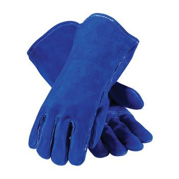 PIP Blue Bison Select Shoulder Split Cowhide Leather Welder's Glove with Cotton Liner and Kevlar Stitching - 73-7007