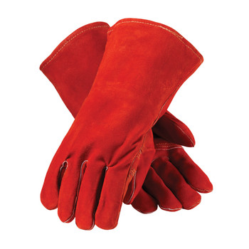 PIP Red Viper Select Shoulder Split Cowhide Leather Welder's Glove with Cotton Liner and Kevlar Stitching - 73-7015