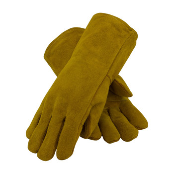PIP Shoulder Split Cowhide Leather Welder's Glove with Cotton Foam Liner and Kevlar Stitching - 73-7085
