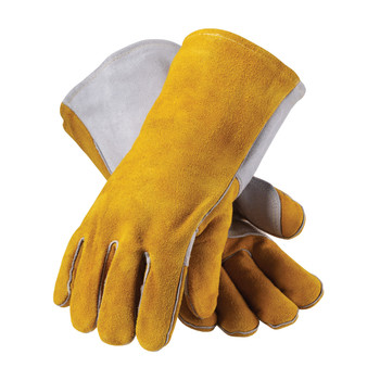 PIP Side Split Cowhide Leather Welder's Glove with Cotton Foam Liner and Kevlar Stitching - 73-7150