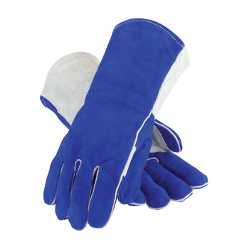 PIP Side Split Cowhide Leather Welder's Glove with Cotton Foam Liner and Kevlar Stitching - 73-7250