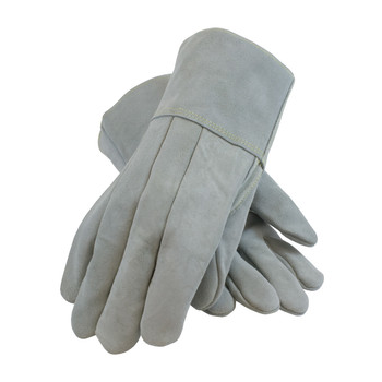PIP Heavy Side Split Cowhide Foundry Glove with Thick Wool Lining and Kevlar Stitching - Leather Gauntlet Cuff- 74-SC7104