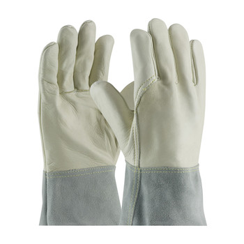 PIP Top Grain Cowhide Leather Mig Tig Welder's Glove with Kevlar Stitching - Split Leather Band Top - 75-2022