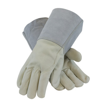 PIP Top Grain Cowhide Leather Mig Tig Welder'sGlove with Kevlar Stitching - Leather Gauntlet Cuff - 75-2026