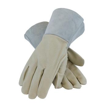 PIP Top Grain Pigskin Leather Mig Tig Welder'sGlove with Kevlar Stitching - Split Leather Gauntlet Cuff - 75-320
